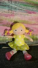 Carter's baby lovey doll ballerina yellow white polka dots pink shoes blonde toy