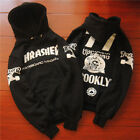 men's hoodie sweater Hip-hop skateboard Thrasher Black Fleece Sweatshirts