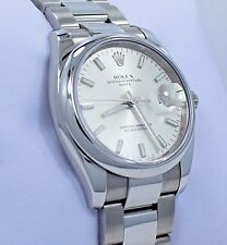 35d78184bf9f item 4 ROLEX Date 115200 34mm Oyster Perpetual Silver Stick Dial Watch MINT  CONDITION -ROLEX Date 115200 34mm Oyster Perpetual Silver Stick Dial Watch  MINT ...