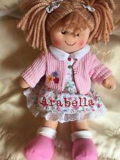 Personalised Rag Doll Poppy Christening. New Baby. Flower Girl 28 cms Ragdoll