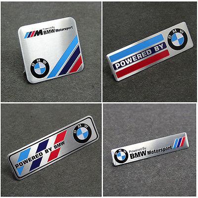 1x Motorsport Aluminum Body Side Emblem Sticker Decal Badge Fit For BMW X5 M3 M4