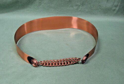 Vintage 50's 60's Ladies Belt W/ Chain Signed RENO
