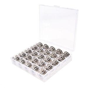 25Pcs-loeschen-leeren-Naehmaschinenspulen-Spulen-Metallkasten-mit-Aufbewahrung-nh