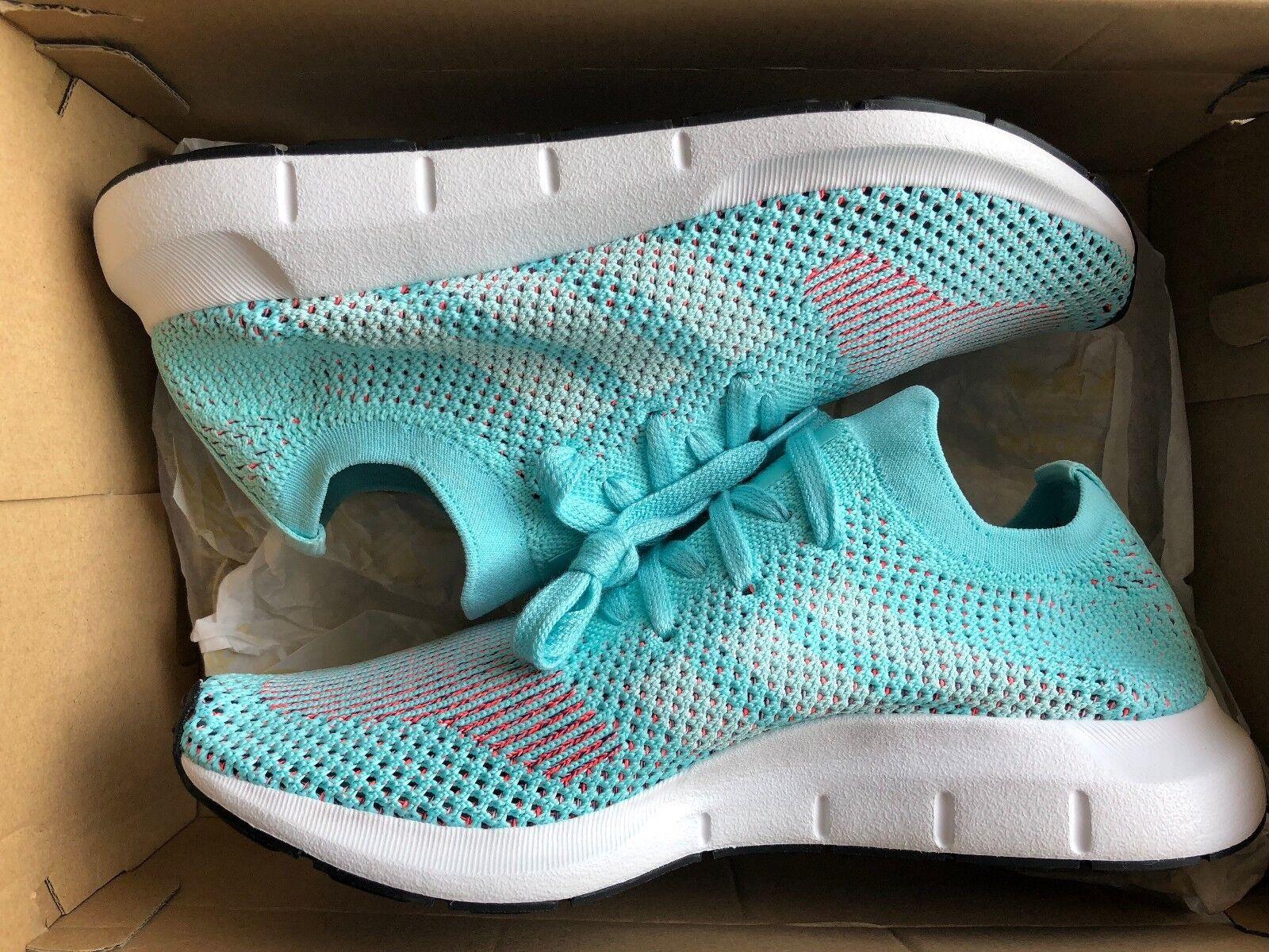 CQ2034 Adidas Originals Swift Run Pk Primeknit W Women Aqua White Running shoes