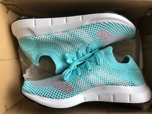 CQ2034 Adidas Originals Swift Run Pk Primeknit W Women Aqua White ... 12985225e
