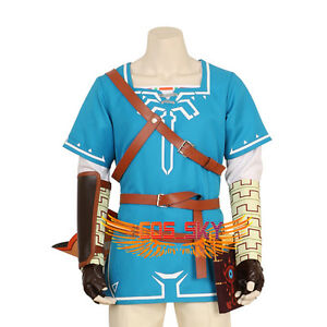 Details About Halloween The Legend Of Zelda Breath Of The Wild Link Tunic Costume Cosplay Coat