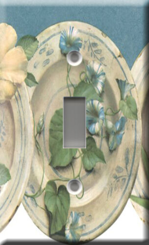 BLUE DISHES SINGLE LIGHT SWITCH PLATE COVER
