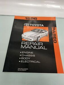 1996 toyota paseo repair manual engine chassis body electrical no rh ebay com 1992 toyota paseo repair manual 1993 toyota paseo repair manual