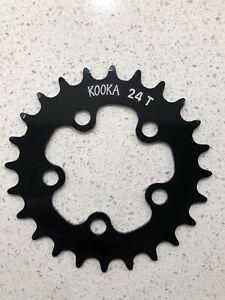Kooka 24T Black Chainring 74 BCD