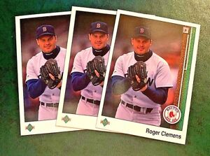 1989 Upper Deck #195 Roger Clemens - Red Sox (3)