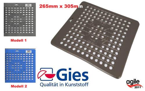 Gies Bürstenmann  Spülbeckeneinlage Spülbeckenmatte  eckig  Made in Germany