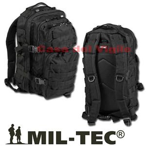Zaino-Tattico-Assalto-INCURSORI-30-Litri-Militare-Molle-MilTec-NERO-survivor