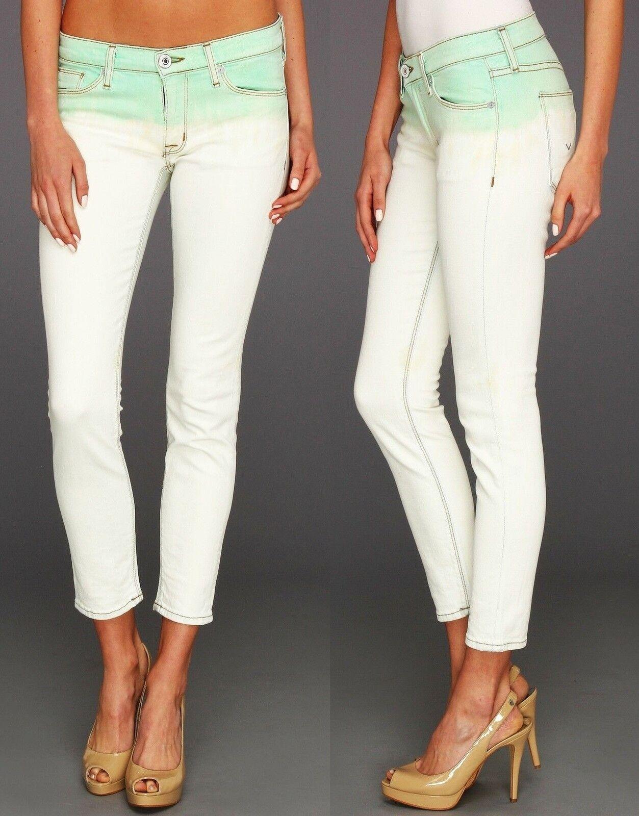 NEW Hudson sz 27 Jeans Krista Super Skinny Crop Pale Jade Pants Women Girl
