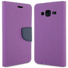 Purple / Navy Wallet Case for Samsung Galaxy Sol / Sky Card Holder Phone Cover