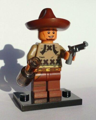 Used LEGO bad hombre dark flesh COWBOY CHARRO w ALTERED HEAD CUSTOM SOMBRERO