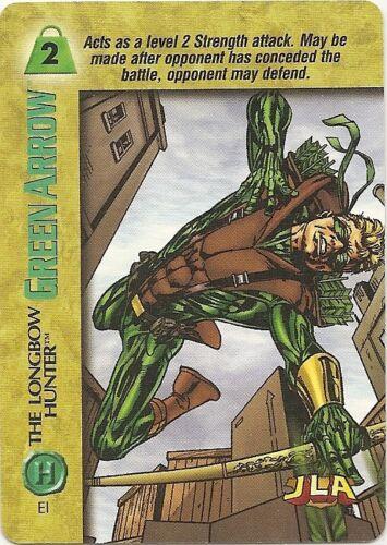 OVERPOWER Green Arrow PLAYER SET JLA hero 11 sp Emerald Archer Kyudo Discipline