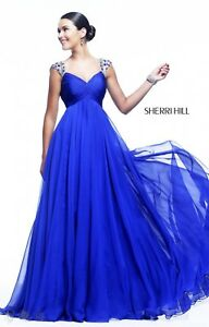 Details About Sherri Hill 11076 Royal Blue Jeweled Pageant Gown Prom Dress Size 6