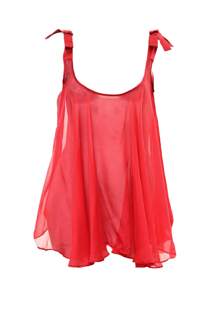 Agent Provocateur Women's Birthday Suit Babydoll Size L Red RRP  BCF83