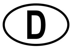 aufkleber sticker d auto pkw kennzeichen l nderkennzeichen. Black Bedroom Furniture Sets. Home Design Ideas