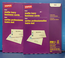Staples laser matte ivory business cards 14632 ebay item 4 2 pks staples 14632 matte ivory laser business cards 3 12x 2 free shipping 2 pks staples 14632 matte ivory laser business cards reheart Gallery