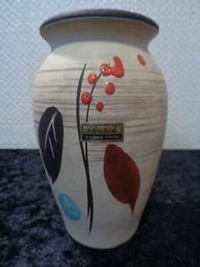 Scheurich-Europ-Linea-Ceramica-Midcentury-Diseno-Florero-Vintage-Um-1950-60