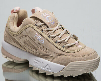 någonsin populär försäljning återförsäljare populärt varumärke Fila Disruptor S Low Womens Feather Grey Shoes Casual Sneakers ...