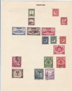pakistan stamps page ref 17108