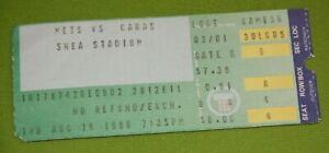 New York Mets Ticket Stub   August 14 1986   Gary Carter Hit