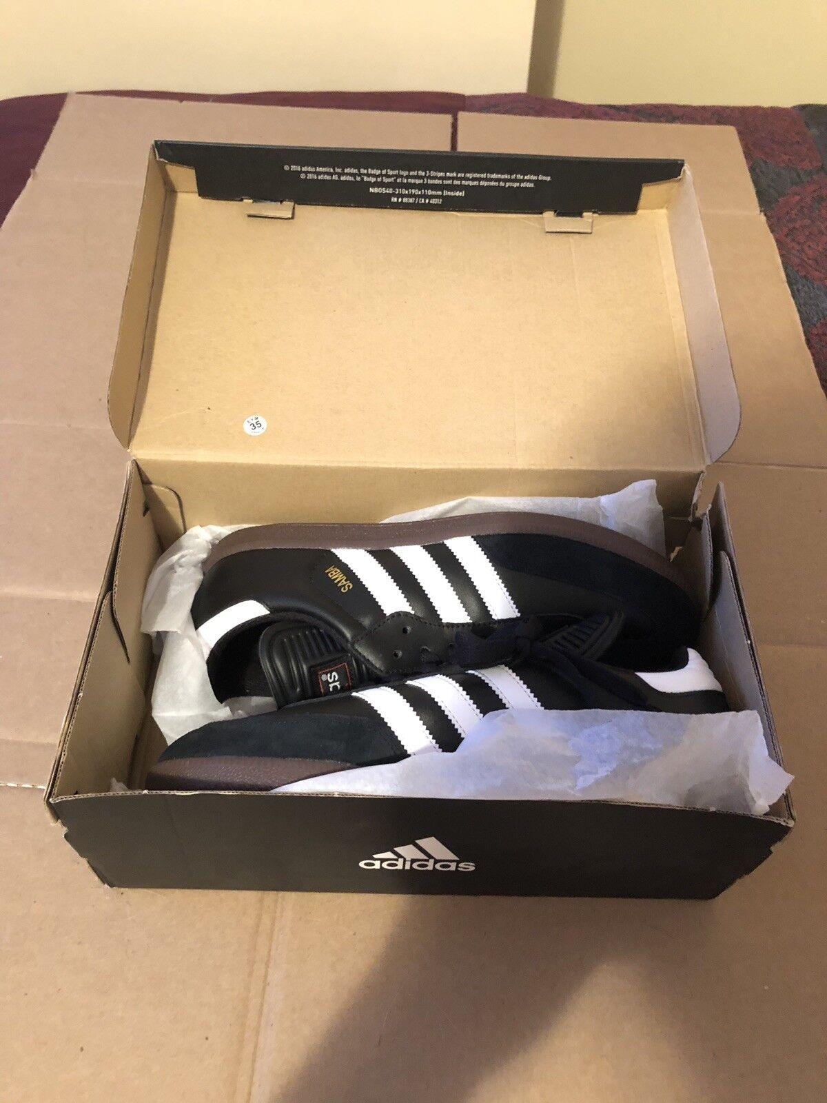 Men's Adidas Samba Classic Black Athletic Indoor Soccer shoes 034563 Sz 8.5