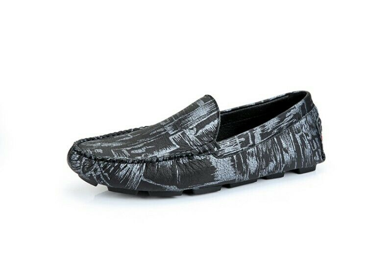 Mens Leisure British Leather Floral Driver Moccasin Gommino Loafers shoes Flats