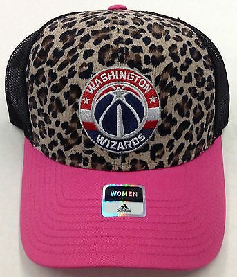 Collezionismo Sportivo Collezionismo Nba Washington Wizards Adidas Donna Leopardato Rete Snap Back Cappellino #vw73z