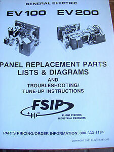 Details about GE Electric EV 100 EV 200 Panel Replacement Parts Lists on