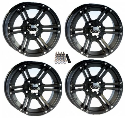 "ITP SS212 UTV Wheels//Rims Black 12/"" Polaris Ranger 900 XP 4"