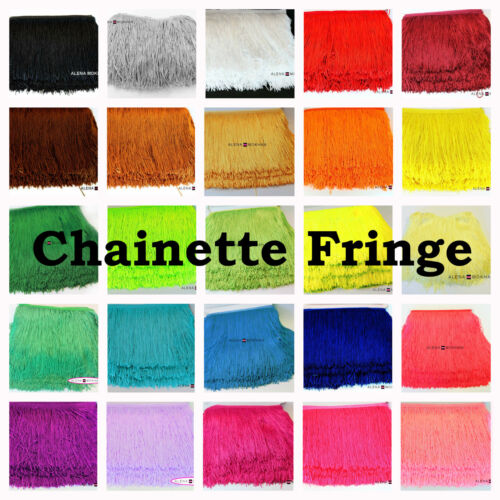 "10 yards 12/"" Chainette Fringe Dance Costume Lamp Trim 22 COLORS U Pick Color"