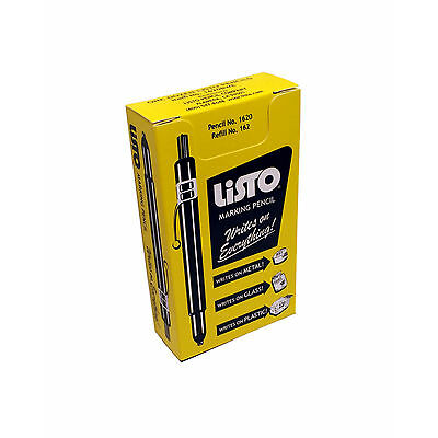 LISTO Pens - Box of 12 - Retractable China Markers - Grease pencils - YELLOW