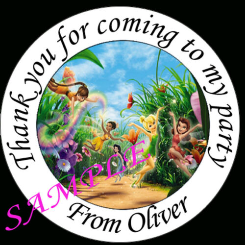 Personalised Disney Fairies inspired Labels Sticker Party sweet cone bags