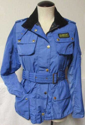 Barbour blu 10 Uk Equestrian Jacket cinturino Incredibile Style Navy Fodera Us Moto 6 prOw5pxq
