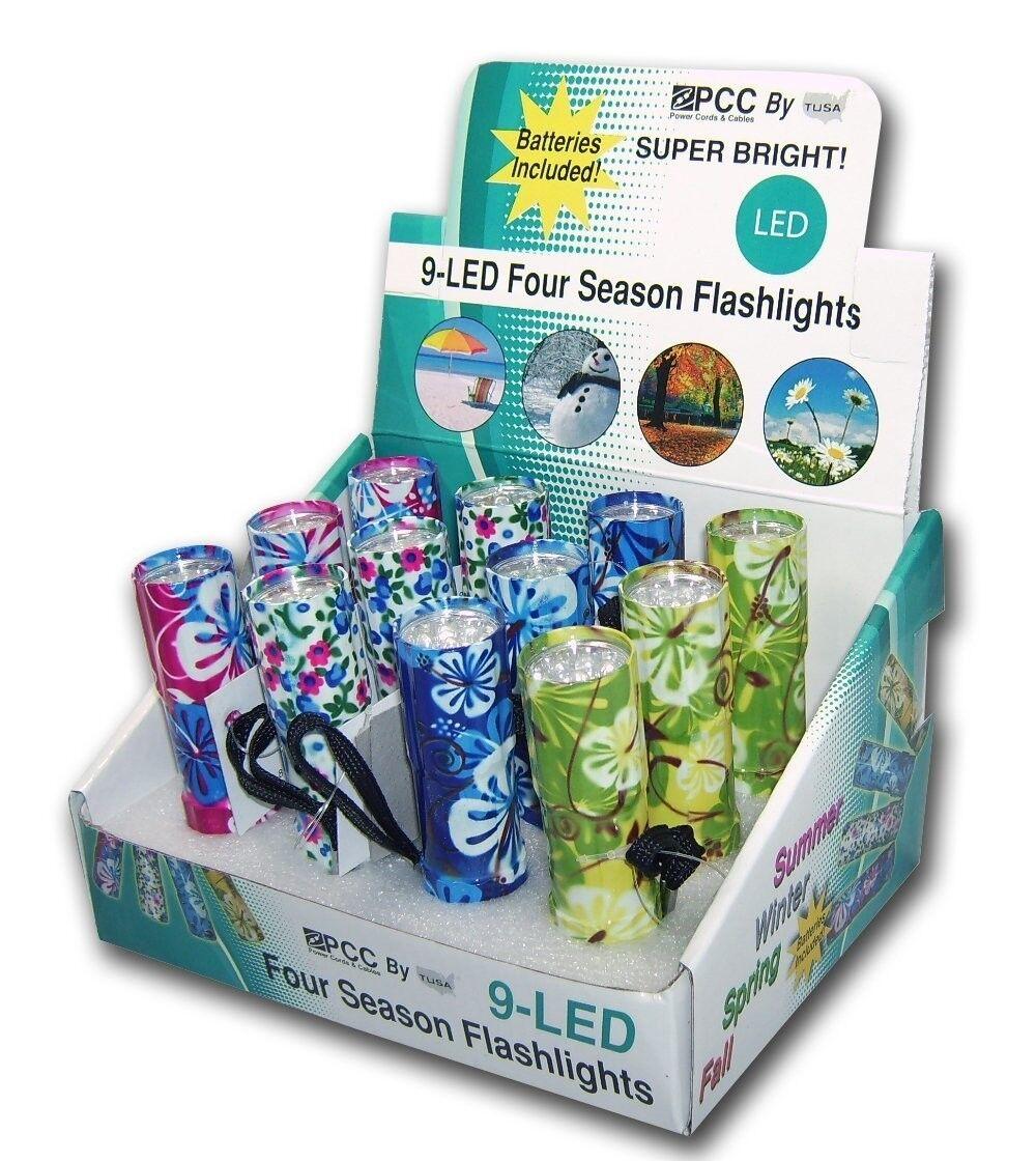 9-LED Seasonal Flashlight Display Box for Resale (Batteries Included)