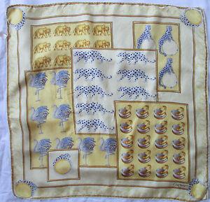 Magnifique foulard CARTIER Paris 100% soie en parfait vintage Scarf ... f6320b51c45