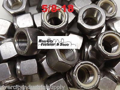 7//16-20 Stainless Steel Nylon Insert Lock Hex Nut  Fine Thread UNF 7//16x20 10
