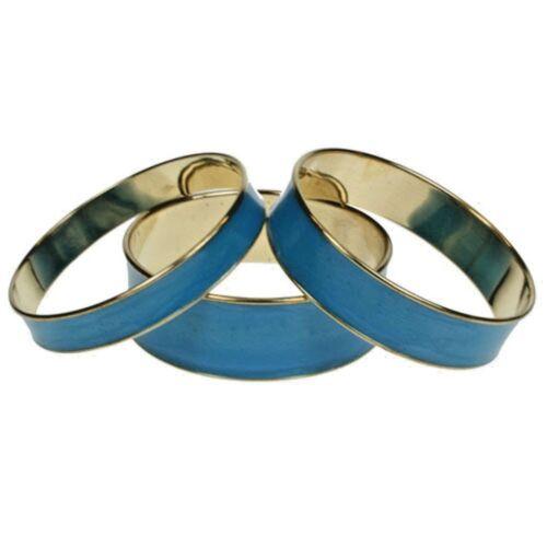 BNWT damas Conjunto de 3 Color Azul Grueso boho hippy festival Brazaletes Mar Azul