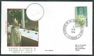 1980 Vaticano Viaggi Del Papa Francia Lisieux - Rm1 Larges VariéTéS