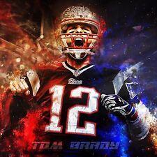New England Patriots Tom Brady poster wall decoration photo print 24x24 inches