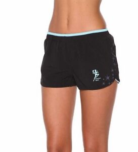 BLOCKOUT-BODY-ENERGY-SIDE-STAR-PRINT-RUNNING-SHORTS-Black-Blue-NWT