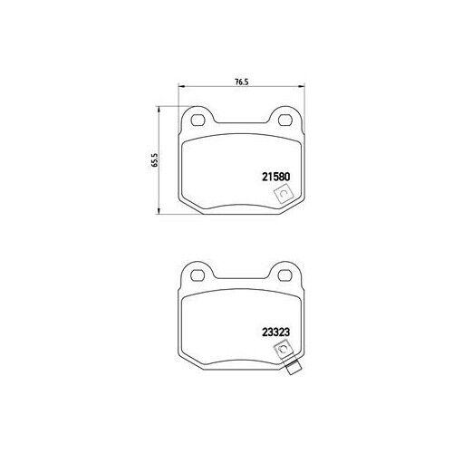 Scheibenbremse BREMBO P 56 048 passend für MITSUBISHI NISSAN 1 Bremsbelagsatz