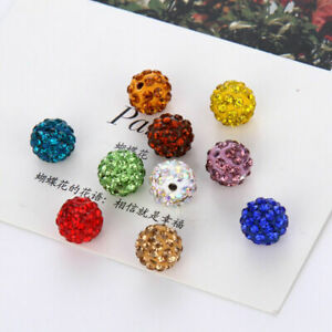 20-Pcs-8-10-mm-Disco-Round-Ball-Crystal-Bead-Space-Loose-Beads-DIY-Bracelet-hot