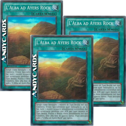 Ayers Rock Sunrise • Super R • DRLG IT020 Yugioh! 3x L/'ALBA AD AYERS ROCK