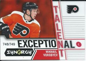 2018-19-Upper-Deck-Synergy-MIKHAIL-VOROBYEV-Rookie-Exceptional-Talent-748-749