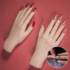 Silicone Hand Lifesize Mannequin Female Model Nail Practice Hands Jewel Display