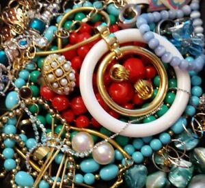Vintage Now Unsearched Untested Junk Drawer Jewelry Lot Estate All Wear L350
